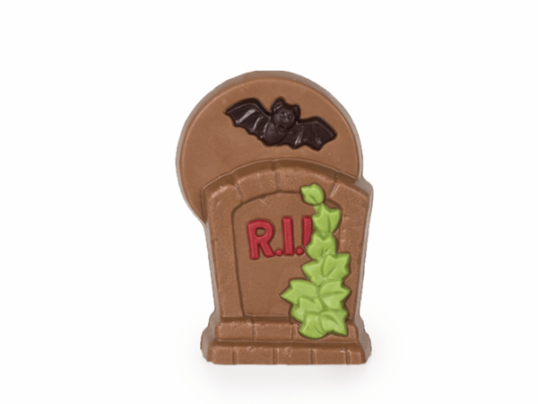 R.I.P. tombstone 10 cm-Decorated milk chocolate