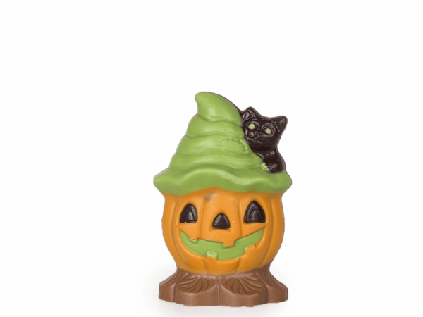 Pumpkin small 10 cm-Decorated milk chocolate