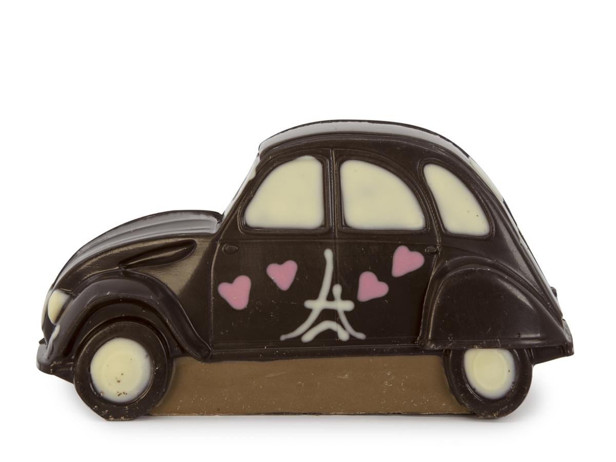 Car Nova 9 cm-Decorated dark chocolate