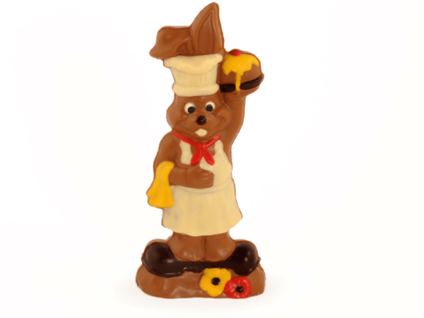 Alberto 23 cm-Decorated milk chocolate