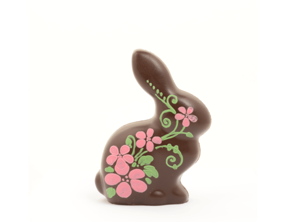 Flower Rabbit 19 cm-Decorated dark chocolate