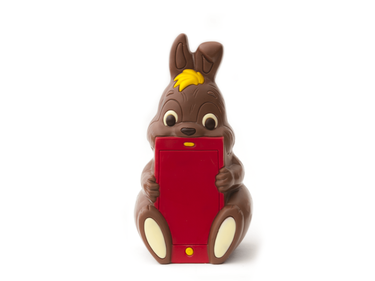 Steve 60 cm-Decorated milk chocolate