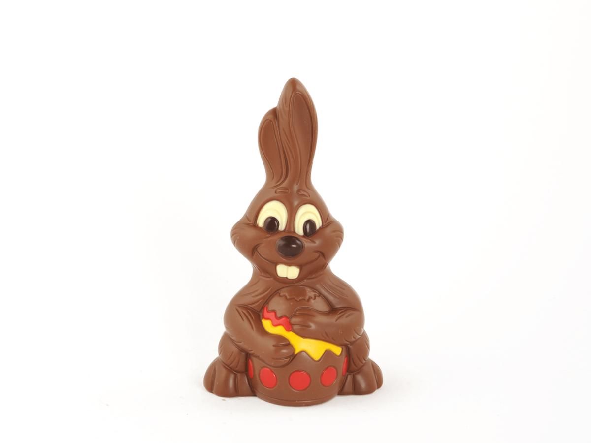 Drumpy 24 cm-Decorated milk chocolate