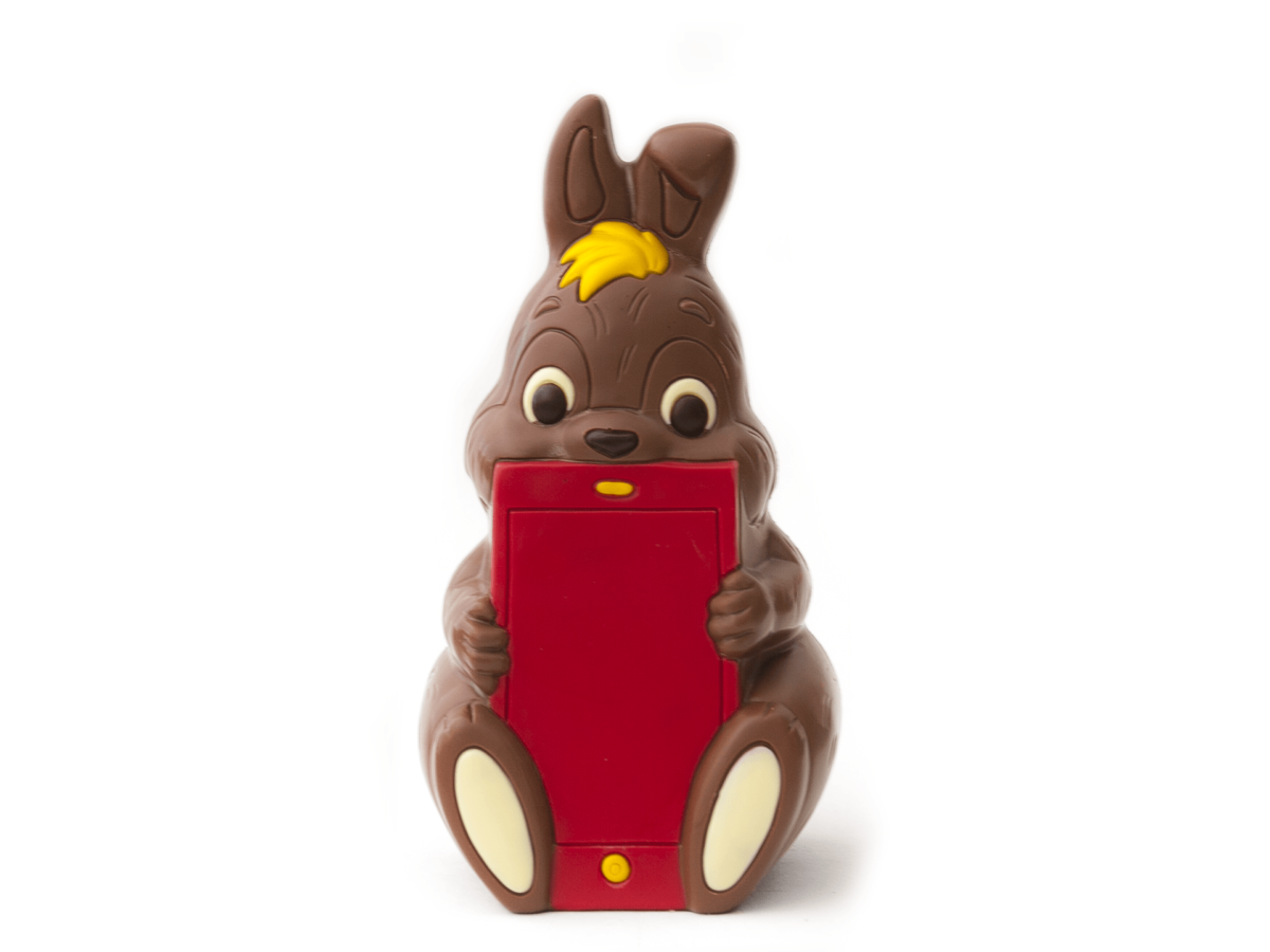 Steve 25 cm-Decorated milk chocolate