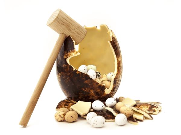 Mystery egg 15 cm-Milk chocolate