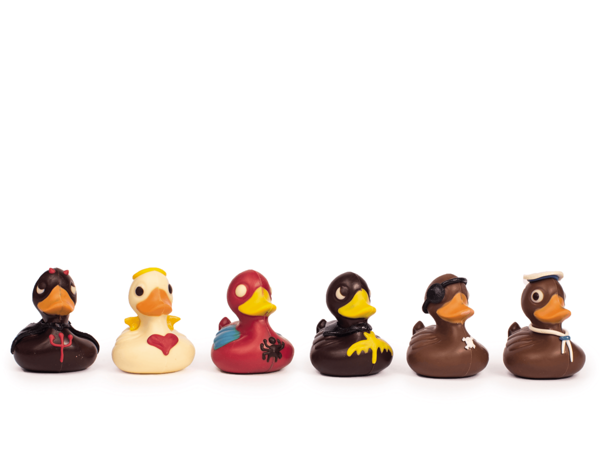 Duck Family mix-Decorated milk chocolate