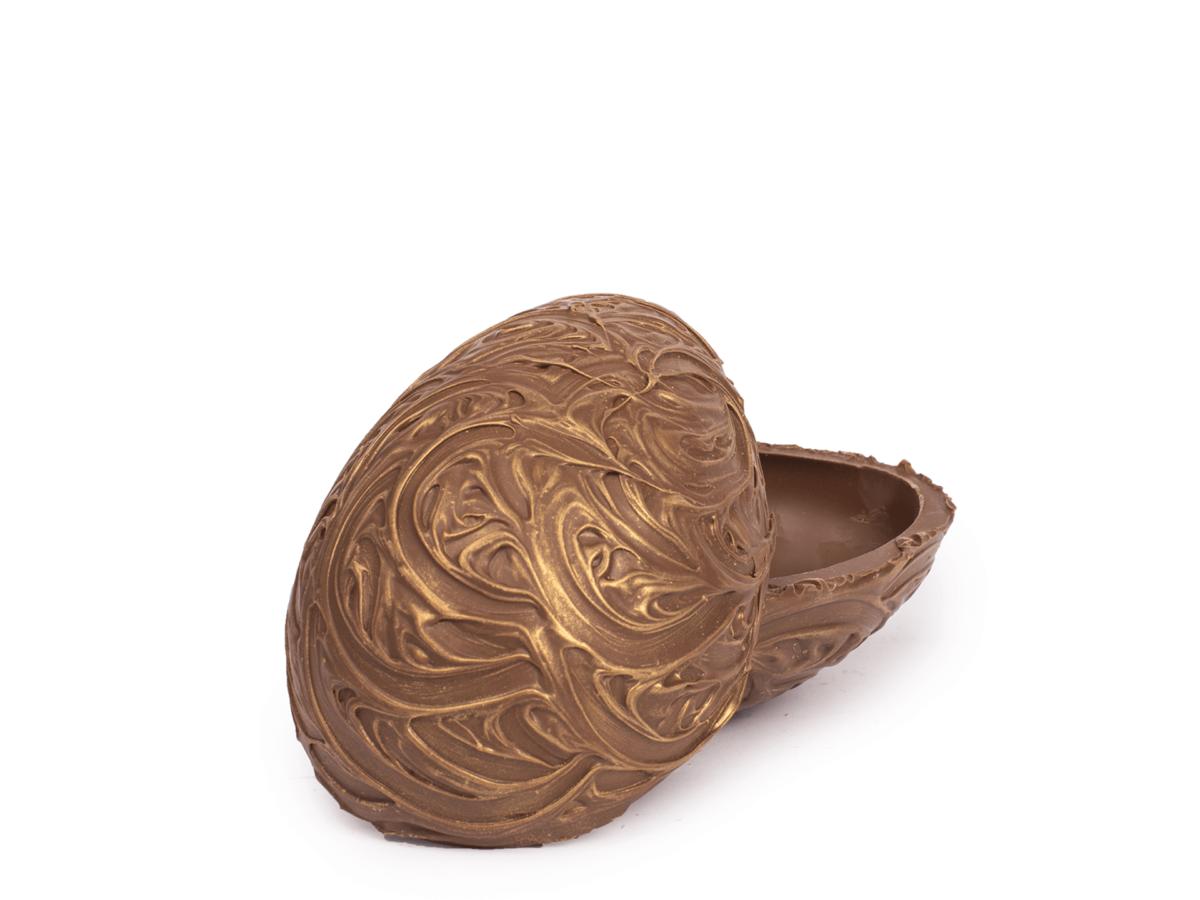 Baroque shells 15 cm-Decorated milk chocolate
