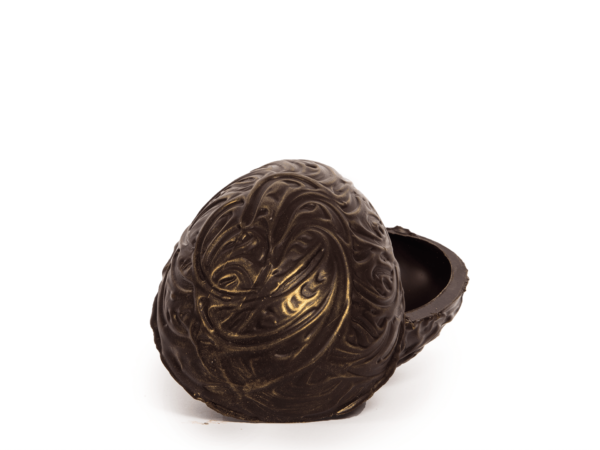 Baroque shells 15 cm-Decorated dark chocolate