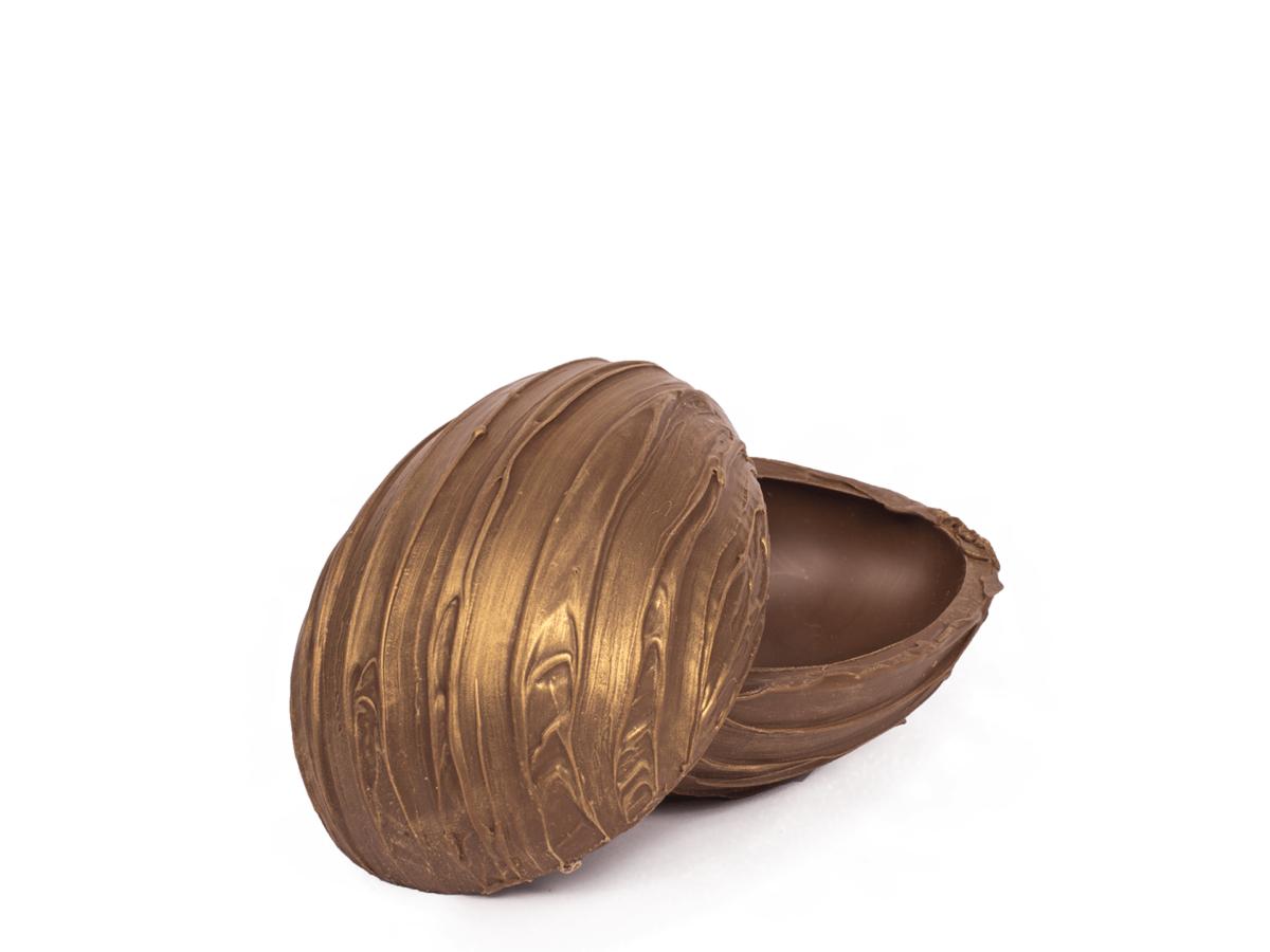 Striped shells 15 cm-Decorated milk chocolate