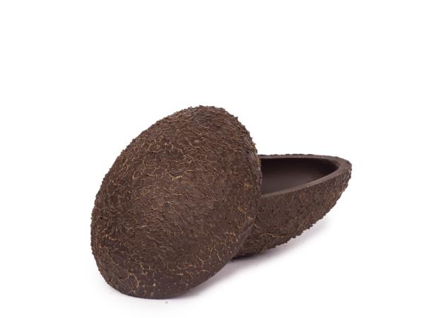 Tampered shells 15 cm-Decorated dark chocolate