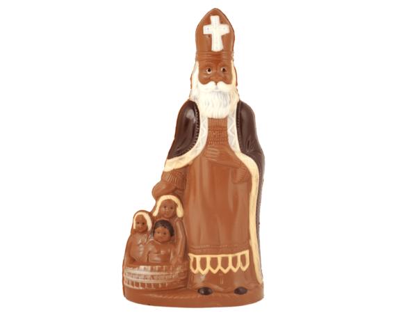 St.Nicholas with children 50 cm-Milk chocolate
