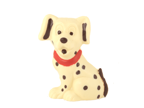 Dalmatian 18 cm-Decorated white chocolate