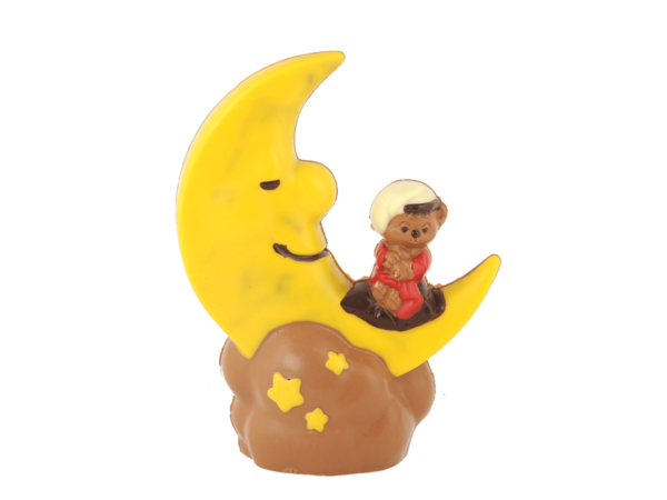 Luna 19 cm-Decorated milk chocolate