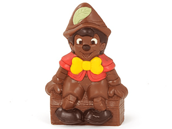 Pinokkio 19 cm-Decorated milk chocolate