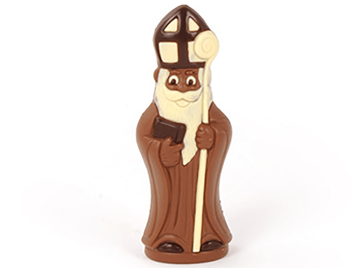 St.Nicholas with book 18 cm-Milk chocolate