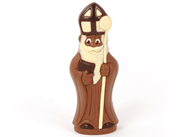 St.Nicholas with book 18 cm-Milk chocolate