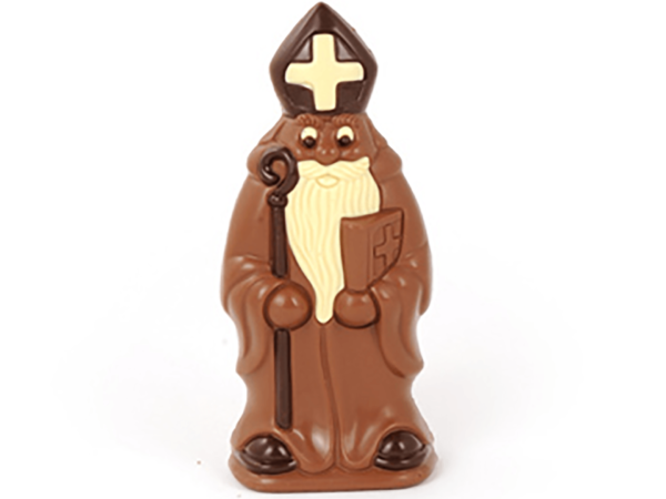 St.Nicholas with book 24 cm-Milk chocolate
