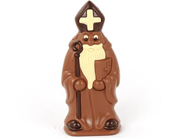 St.Nicholas with book 24 cm-Milk chocolate